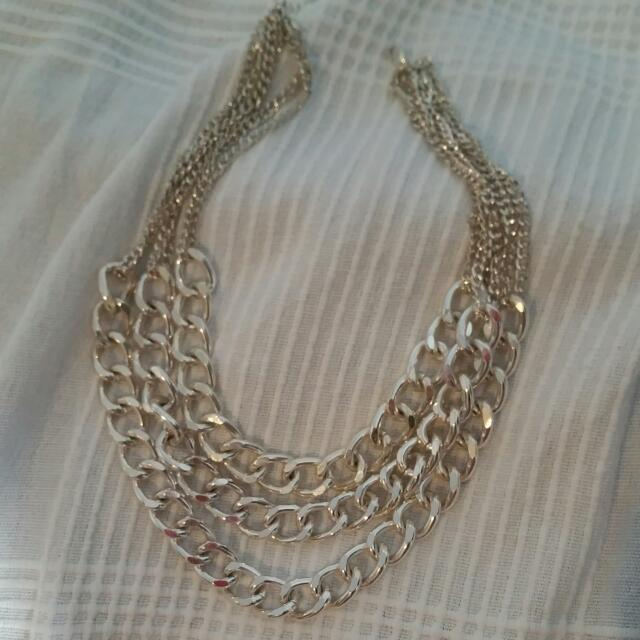 Heavy 3 Chain Necklace
