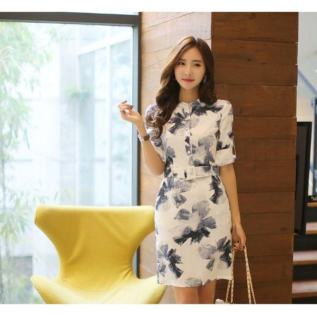(LG0324-116) 春夏專櫃款簡約高雅氣質款文藝優質棉麻洋裝連身裙小禮服棉麻衫 S-XL