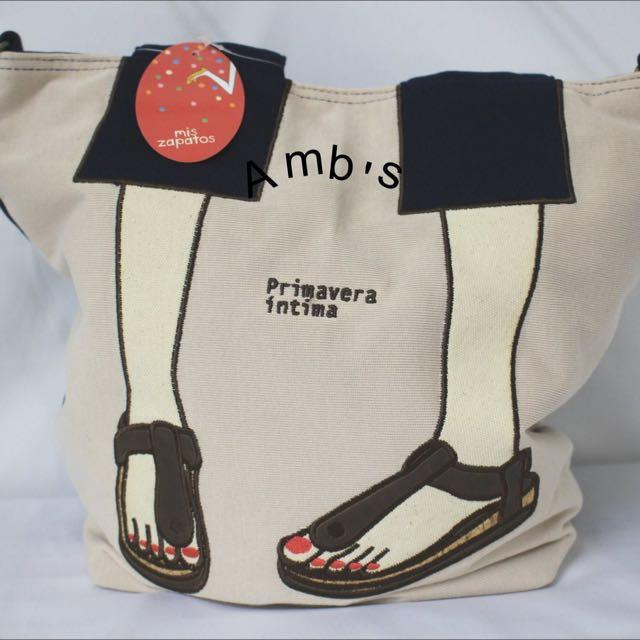 日本美腿包mis Zapatos~涼鞋版米色現貨