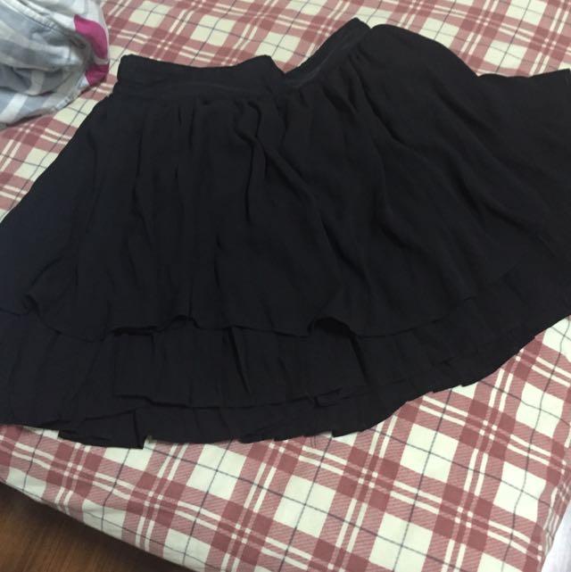 MJR Major Made日本帶回雙層黑紗褲裙
