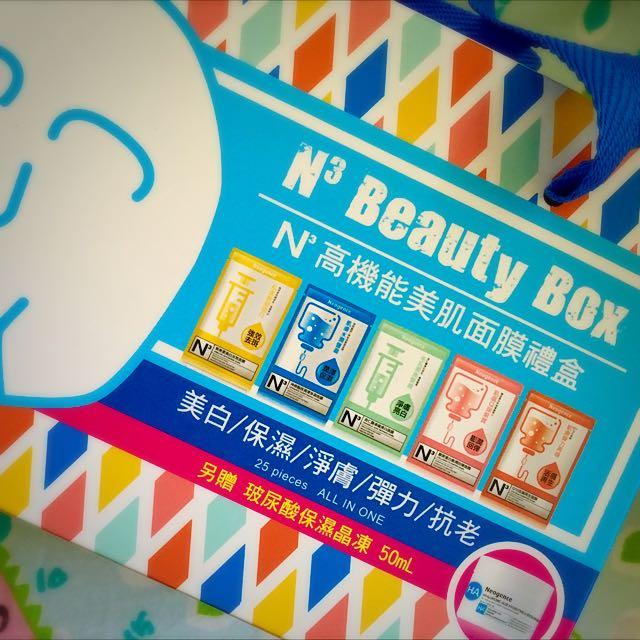 🎀面膜25片+玻尿酸保濕醒膚晶凍50ml Neogence霓淨思 N3高機能美肌面膜禮盒