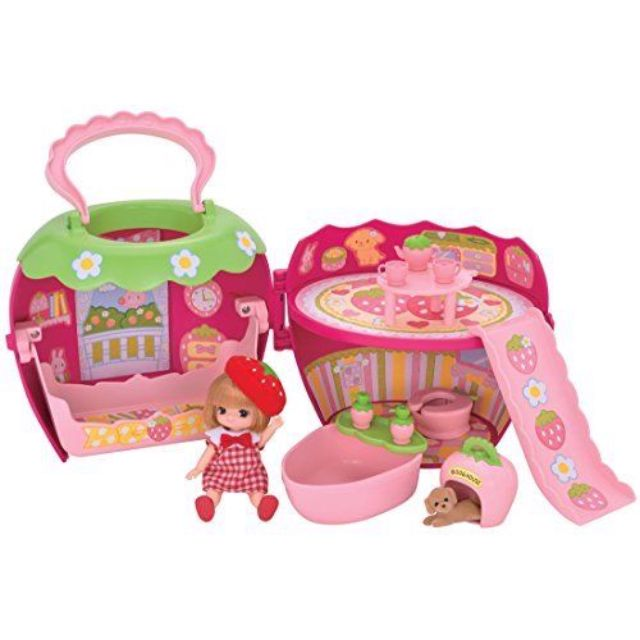 [Pre-order] Last Piece Takara Tomy 3 Year Old Licca chan Doll And Strawberry House