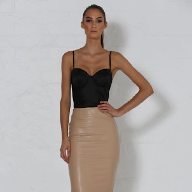 SAMPLE - Zosia Leatherette Bodysuit Size 6