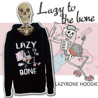 Lazy Bone 刷毛帽T