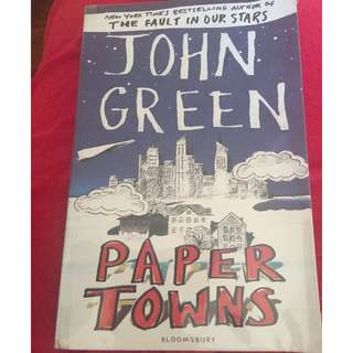 Paper Towns wrapped paperback