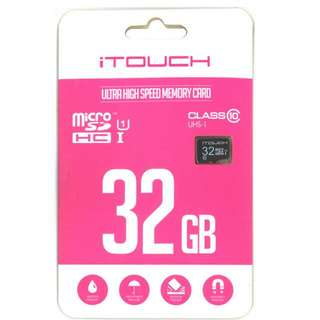 iTouch Ultra Hight Speed 32GB Micro SD card. (Class 10)