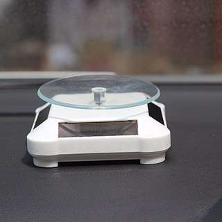 [ Instock ] Solar Powered Figurine Showcase Rotator !!
