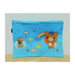 [熊熊夾鏈袋] 袋子/藍色/網狀/格子