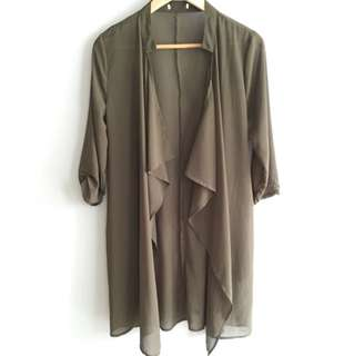 Khaki Sheer Jacket
