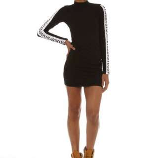 Stussy Long Sleeve Bodycon Dress