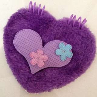 Purple Furry Heart Notebook