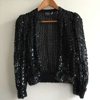 Vintage Sequinned Cardigan/ Jacket