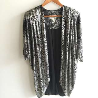 Vintage Metallic Cape/ Light Jacket