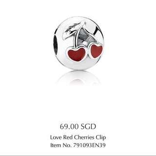 Pandora Love Red Cherries Clip