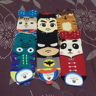 六雙可愛襪子