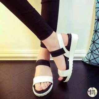 Monochrome Platform Sandals