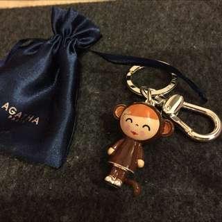 全新✨✨法國品牌 Agatha 小猴子🐒鑰匙圈