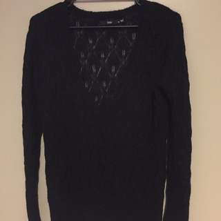 Sportsgirl Black Knit- Medium