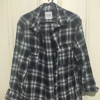 Checkered Black And White T