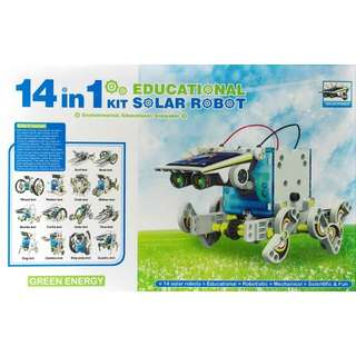 14-in-1 Fun & Educational Solar Robot Toy. No Battery Needed.