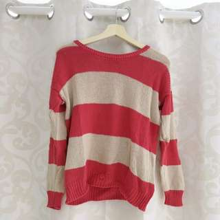 Stripe Knit Jumper Size M