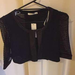 Black Crop Jacket Size 14 Nwt