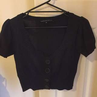 French Connection Black Crop Cardigan