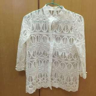 宮廷 蕾絲 衫