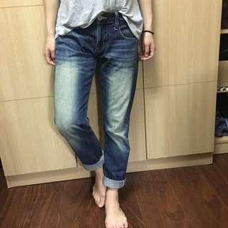日本109品牌 SLY 男孩風深色牛仔褲 27腰