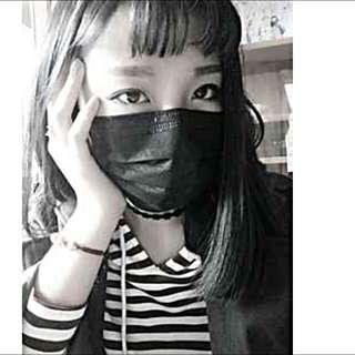 黑色口罩   50/盒 特價149$ 只到月底