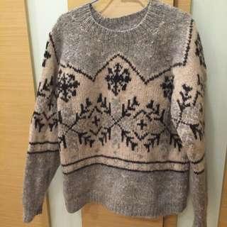韓版羊毛寬版毛衣