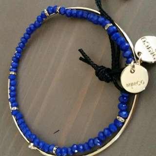 Mimco Blue / Gold Bracelet