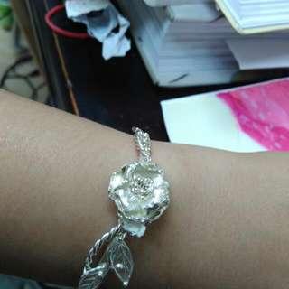 純銀手工手環
