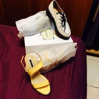 Pazzo綁繩厚底鞋/pazzo藤編楔形涼鞋
