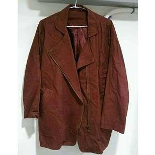 最低價‼️酒紅長版外套