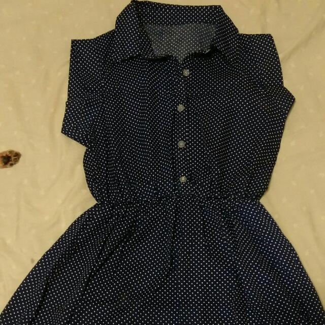 點點深藍色洋裝(近全新)