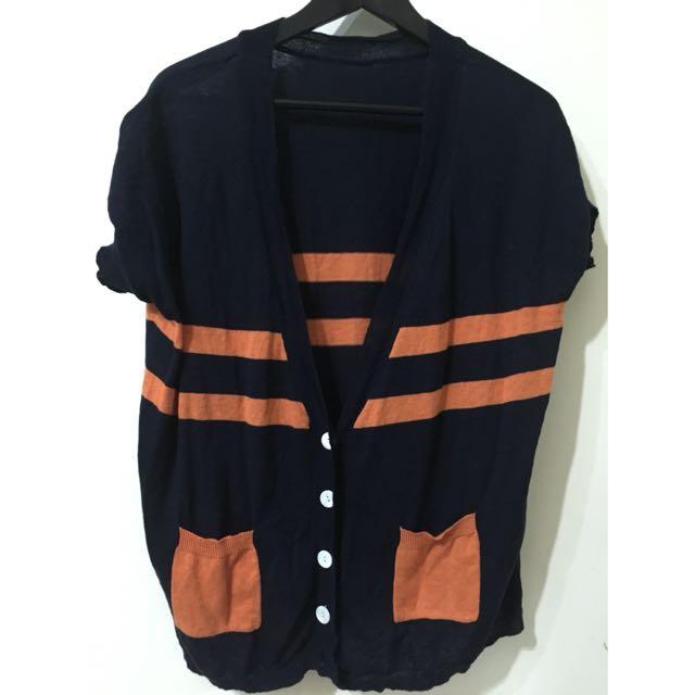 復古短袖針織外套