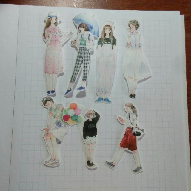 (熱門款)女孩紙膠帶貼紙