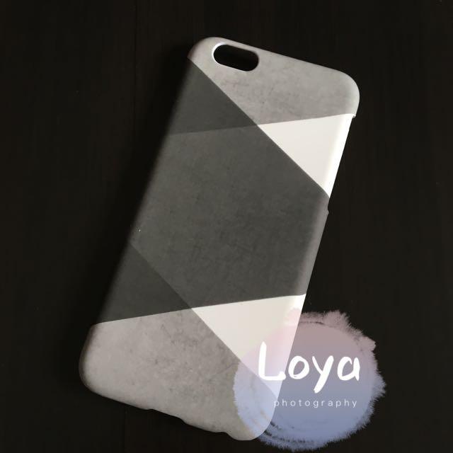 簡約黑白灰拼色超薄磨砂硬殼