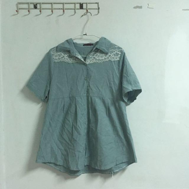 含運 日系森林系長版襯衫