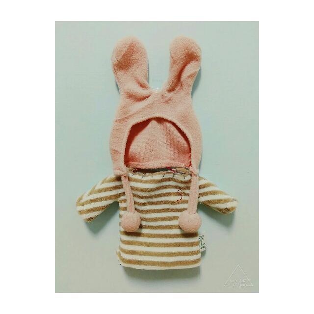 [娃娃衣服] 兔子/EXO/玩偶/換裝/條紋/卡其/粉色