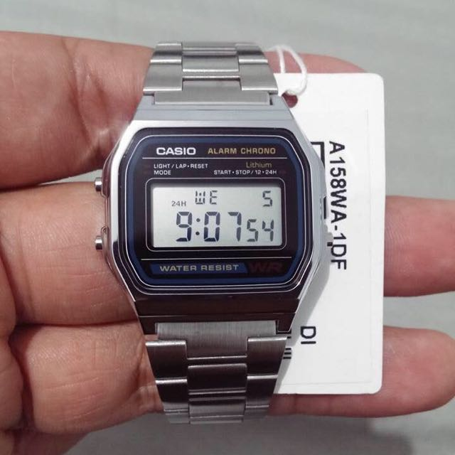 online retailer d2885 1ef05 In-Stock] A158WA-1D Silver Casio Vintage Watch, Electronics ...