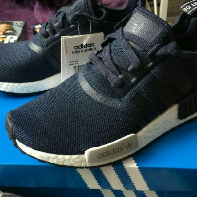 Adidas NMD 海軍藍 25.5(26可穿)
