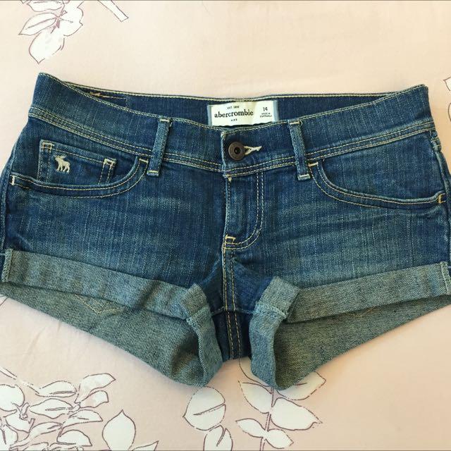 A&F 牛仔短褲 Kids 14