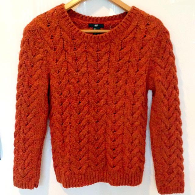 Burnt Orange Knit Jumper