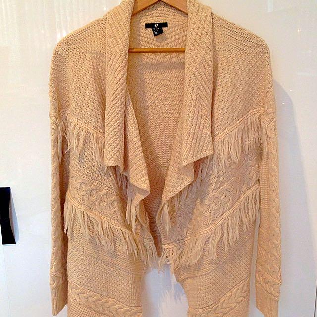 Cream Waterfall Knit Cardigan