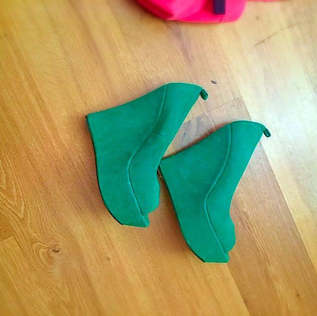 Dark Green Heels