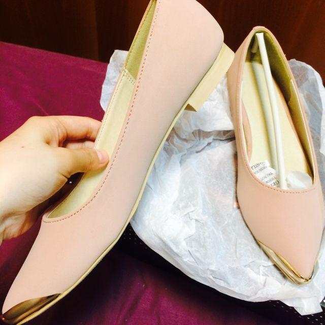 全新Dazzlin專櫃嫩粉微跟鞋