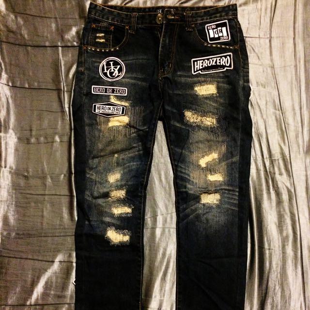 HOZ破壞牛仔褲