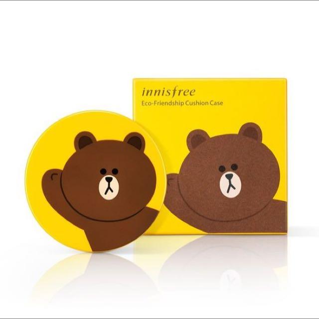 收收收💕徵收innisfree氣墊粉餅熊大款空盒